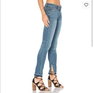 NWOT Free People side slit raw hem skinny jeans